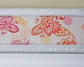 Sunrise Paisley Framed Fabric Wall Art