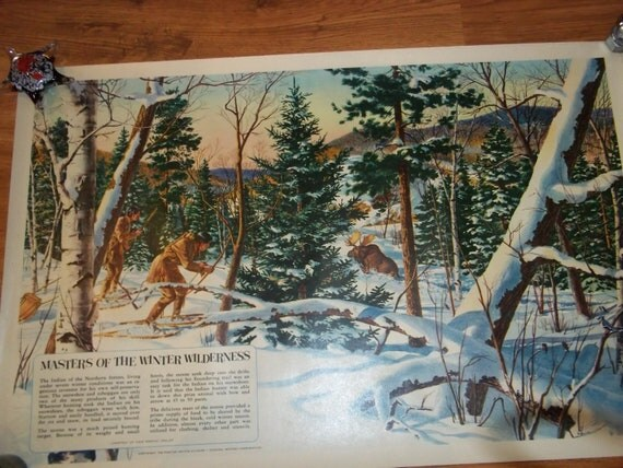 Five Large Original 1950's Pontiac Motor Co Dealership Posters Native American Indians