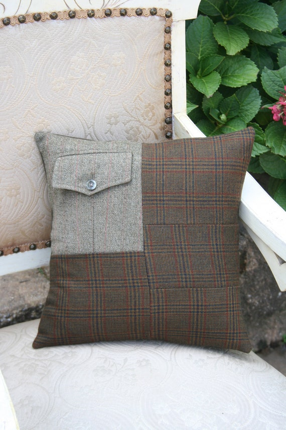 It's Autumn Gentleman - Plaid Tweed PILLOW COVER - 14 Inch