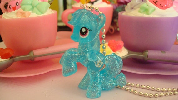 My Little Pony Shoeshine Limitied Glittery Edition Assembled Kawaii Necklace Light Blue or cell phone charm you choose