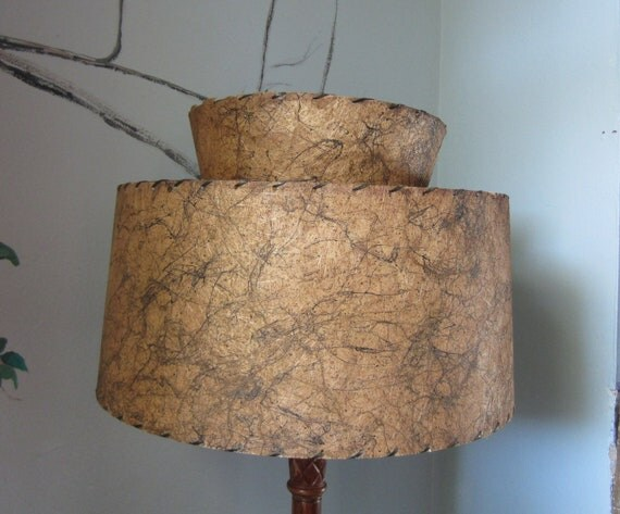 Mid Century Modern Barrel Lamp Shade