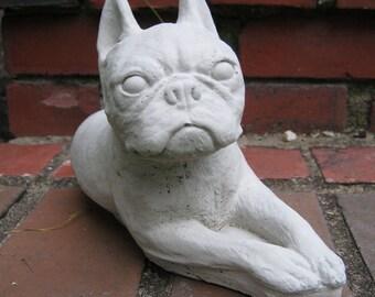 Boston Terrier Statue, Terrier Figure, Garden Statues Of Dog, Cement Boston Terriers Home Decor
