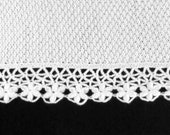 Knitted Baby Blanket - White