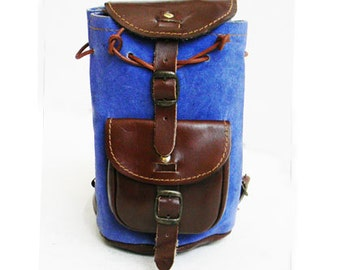 Vintage Leather and Suede Mini Backpack
