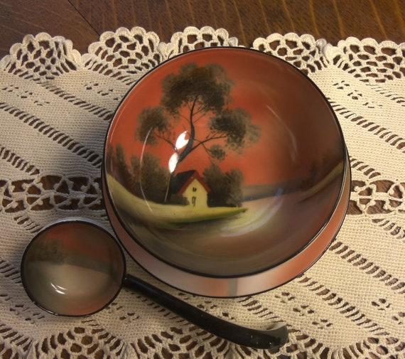Noritake Hand Painted Mayonaise Set