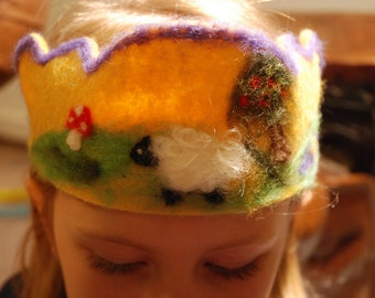 Needle Felted crown - Waldorf inspired