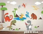 Wall Decal, Dinosaur Nursery Kids Wall Decal - Nursery Wall Décor
