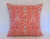 Red Ikat Pillow Cover