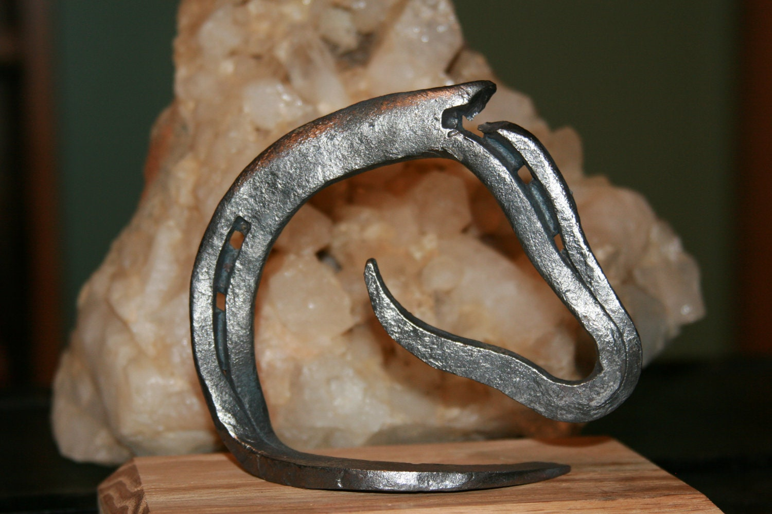 Coal forged horseshoe art for Craft in america forge
