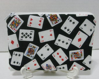 Cards Zipper Change Purse . White And Black  (Padded)