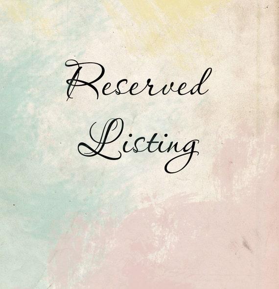 Reserved Listing for Rajka