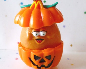 """Vintage McDonald's Happy meal Toys, Halloween McNugget Buddies,""""Pumpkin McNugget"""" - Hard to Find  ~  Rare toy"""