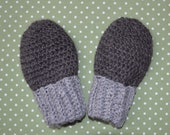 Thumbless Natural Gray Alpaca Mittens for Baby Size 1-3 Years Stocking Stuffer