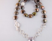Pale Amethyst and Pearl Necklace