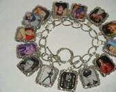Elvis Charm Bracelet  Altered Art