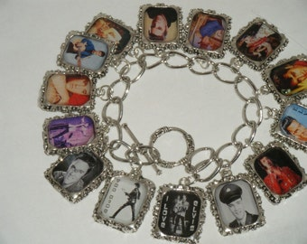 Elvis Charm Bracelet  Altered Art