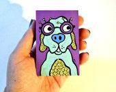 Dog with Glasses colorful wood art blocks