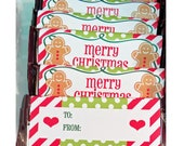 Christmas Candy Wrappers Printable - Magic of Christmas Collection
