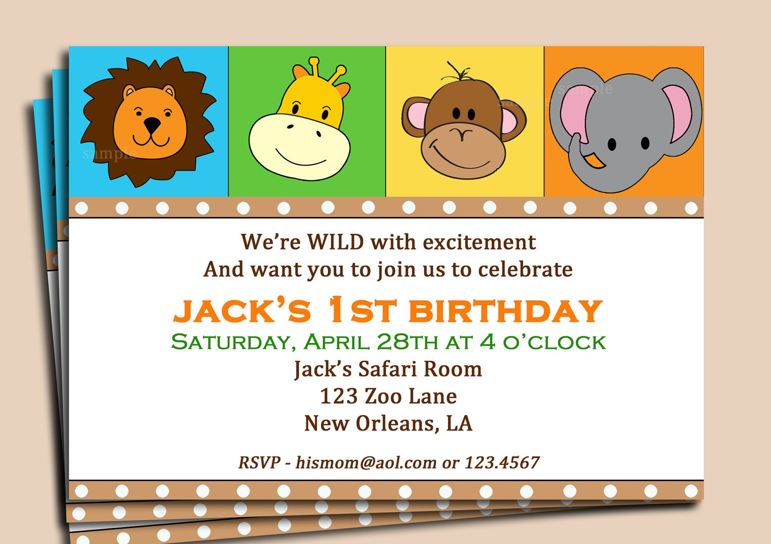 party animal invitations image collections party invitations ideas ...