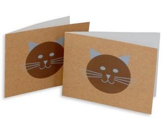 Cat illustration greeting card