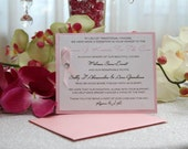 Reserved for Traci - Favor Donation Cards