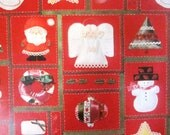 Vintage Wrapping Paper - Crafty Christmas Gift Wrap - One Sheet - 1984 - American Greetings