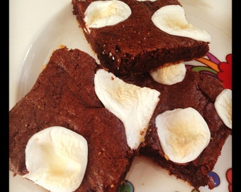 Vegan S'mores Brownies - vegan marshmallow 6pk