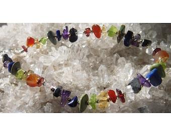 Rainbow Chip Chakra Bracelet