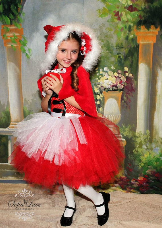 Items similar to little red riding hood costume birthday or dress up on etsy - Caperucita roja disfraz casero ...