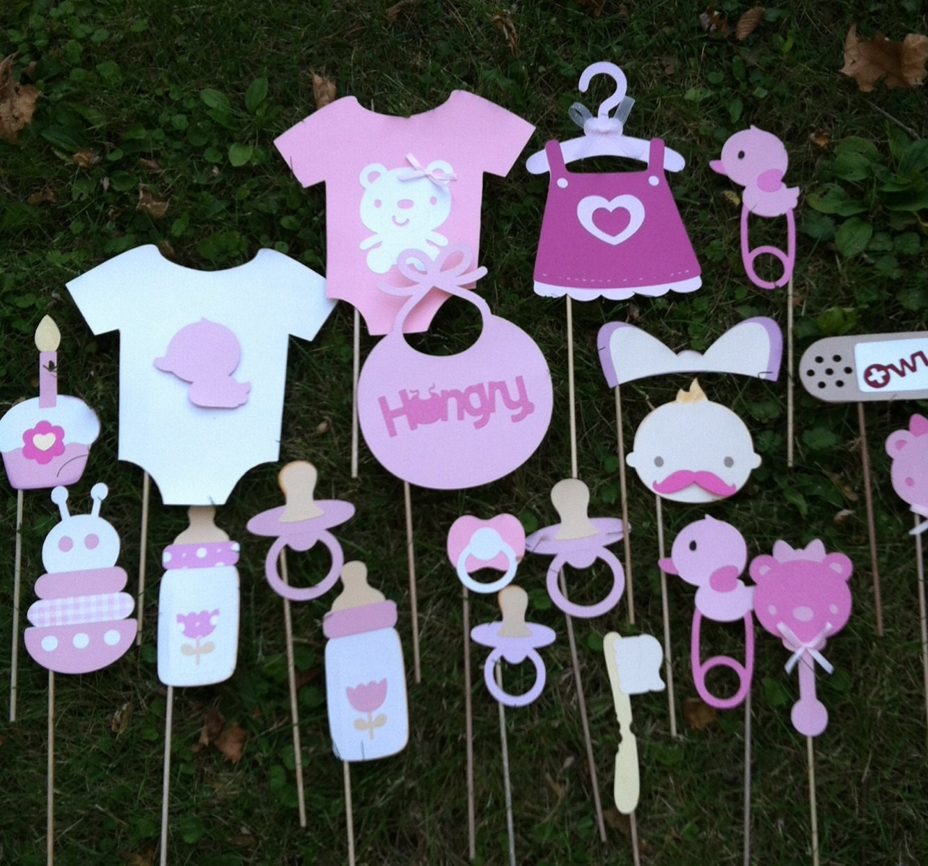 photo booth props pink baby showerbaby girl baby