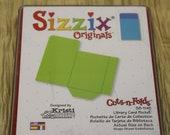 SIZZIX Originals Die Cut LIBRARY CARD Pocket Folder