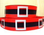 7/8 Santa Suit grosgrain Christmas ribbon