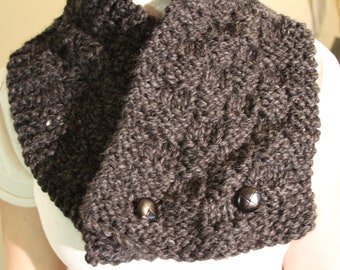 Knit Chunky Scarf Unisex Knitted Cowl Unisex Winter Fashion Order in Your Favorite Color
