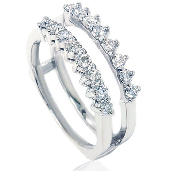 Wedding Ring Engagement Insert Ring Diamond Guard Ring