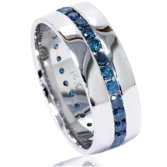 like this item - Blue Diamond Wedding Rings