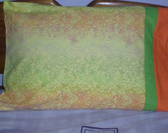 Butterflies Galore - Pillowcase, Standard Pair, Flannel Butterflies Galore