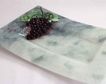Decorative Platter with Grapes