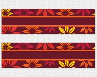 Party Printable Thanksgiving Themed Napkin Rings - DIY Printable