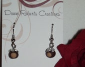 Ohio Buckeye Leaf Dainty Dangle Earrings- Lovely- A Dawn Roberts Creations Original