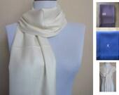 Ivory Pashmina Scarf, Shawl, Wrap, bridal shawl, bridesmaids shawl, bridal gift