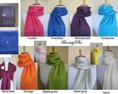 5 Any color (MIX AND MATCH) of your choice of Pashmina Scarfs or Shawls. For other color see my shop