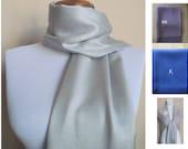 Pashmina, A Silver Gray Pashmina Scarf, Shawl, Wrap, bridal shawl, bridesmaids shawl, bridal gift