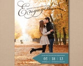 CUSTOM LISTING for Laxey - Magnet Save the Dates - Modern Engagement Announcement