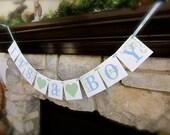 IT'S A BOY banner, baby shower sign, annoucement