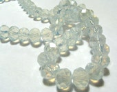 20 Semi-Opaque Opal Colored Faceted Opaque Rondelle Beads - Sizes Small, Medium, & Large - 4mm - 8mm