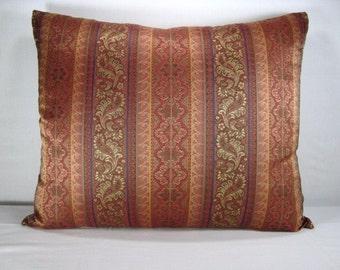 SALE!!! Woven Stripe Lumbar Pillow 16x20 Pillow Cover