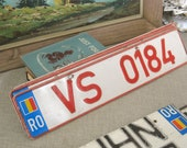 Vintage Romanian Licence Plate - Odd Bits / Assemblage