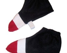 SHADOW SONIC the Hedgehog Costume Halloween Shoe covers Spats 2 3 4 5 6 7 8 9 10