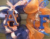 Auburn Tigers &  Florida Gators house divided mesh wreath