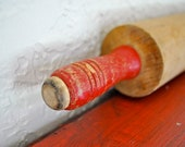 Vintage Red Rolling Pin